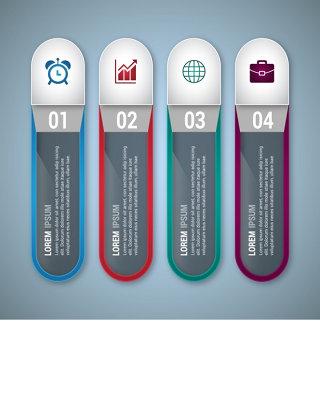 步骤信息图表设计