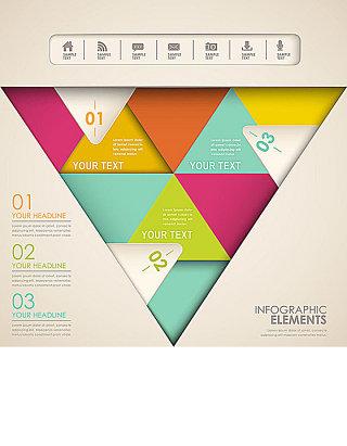 创意三角形信息图表