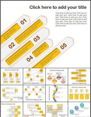 68页精美并列关系PPT图表合集