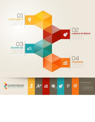 精美商务信息图表设计矢量素材