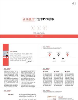 2018创业融资商业计划动态PPT模板