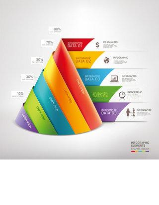 时尚折纸 三角形 商务图表图片