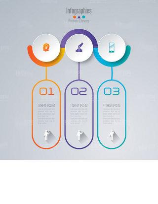 精美商务信息统计图表设计矢量素材