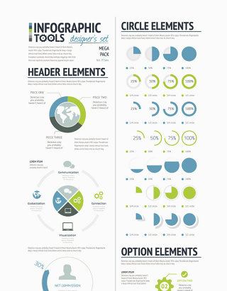 分布图柱状图信息图标饼图海报PPT素材