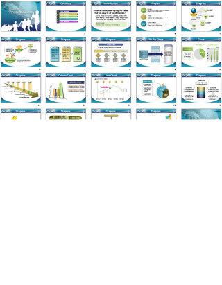 图形图表ppt模板
