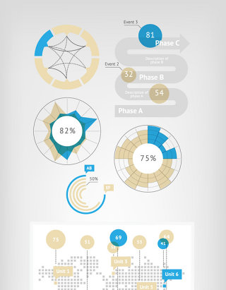 教材网格PPT商务素材信息图标矢量元素