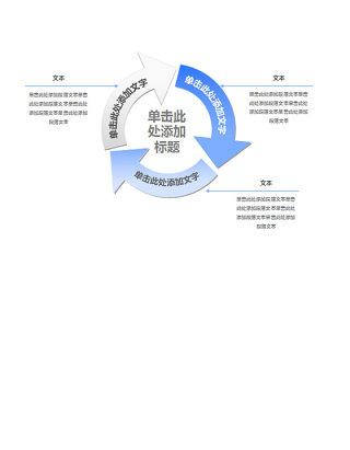 简洁三项循环关系PPT图表