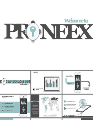 水浅葱色企业营销业绩区域报告PPT模板