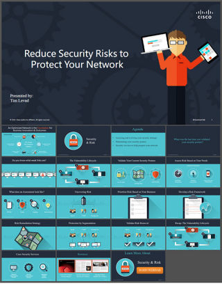 思科网络科技安全产品演示说明ppt模板