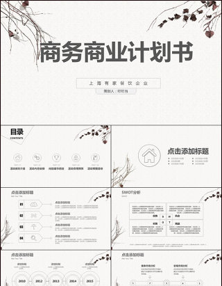 2017简约商务商业计划书