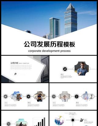 大气公司企业发展历程企业大事记ppt模板