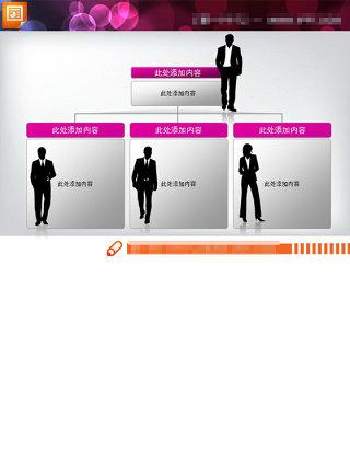 人员分工结构图PPT模板