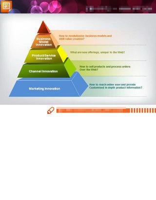 漂亮的金字塔PPT结构图模板