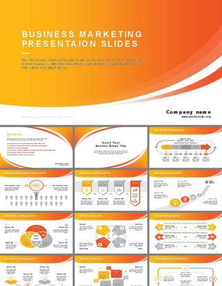 欧美风常用常备商务报告PPT模板