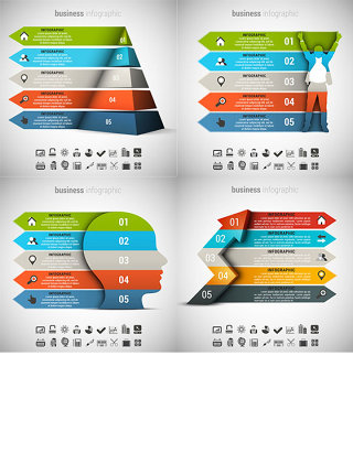 立体创意商务图表设计矢量素材