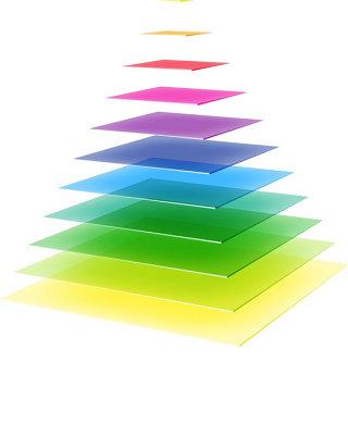 金字塔商务信息图表矢量素材