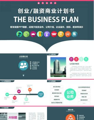 漂亮精美框架完整的创业计划书商业融资