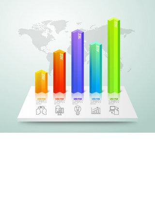 ppt数据分类图标元素矢量素材