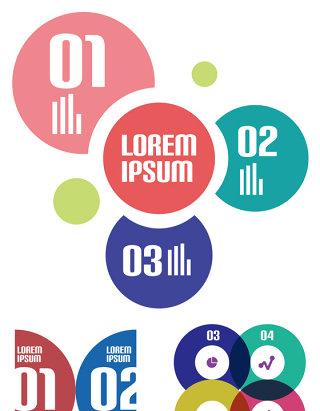 2017欧美时尚科技信息图表步骤矢量素材