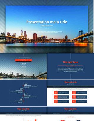 投影设计元素欧美风精美商务ppt模板