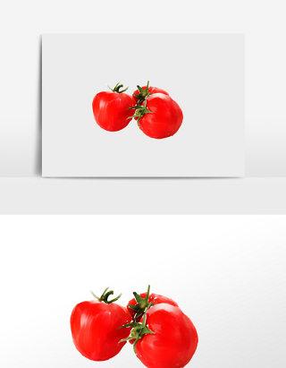 水彩立夏小圣女果清新水果素材