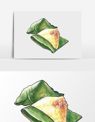 水彩手绘端午节粽子图案