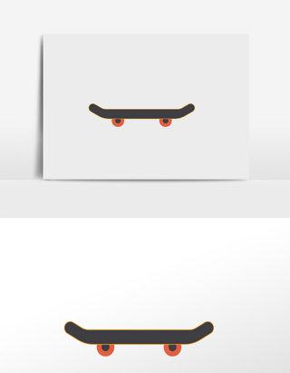 卡通滑板插画元素