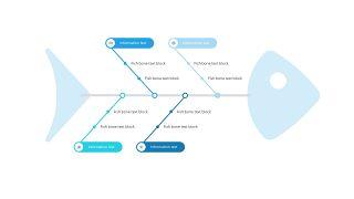 蓝色鱼骨图PPT图表-1