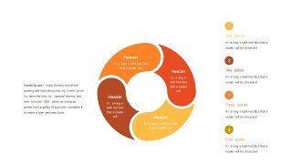 红橙色箭头雷达图PPT图表-24