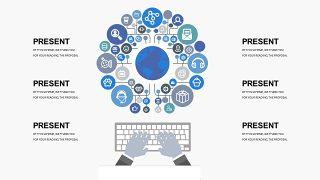蓝色创意总分关系PPT图表-17