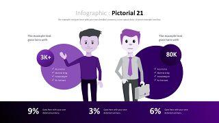 紫色商务对比关系PPT图表-30