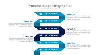 蓝色扁平化流程图PPT图表-2