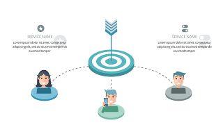 蓝色商务人物PPT图表-4