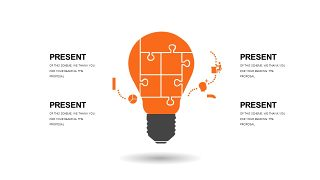 橙色简约通用PPT图表-8