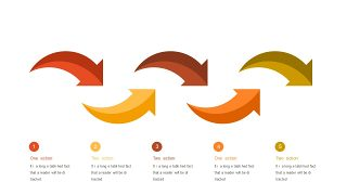 红橙色箭头雷达图PPT图表-18