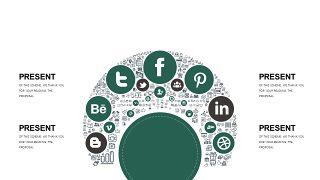 墨绿色创意设计PPT图表-12