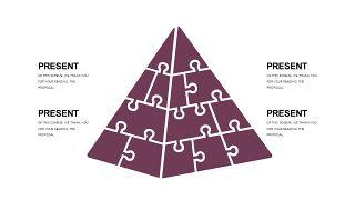 深紫色系商务PPT图表-31