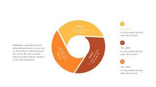 红橙色箭头雷达图PPT图表-27