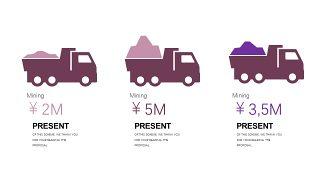 深紫色系商务PPT图表-28
