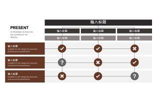 咖啡色数据分析PPT图表-12