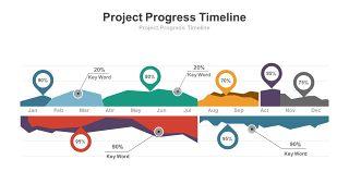 创意折线图PPT图表-22