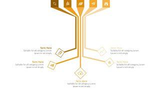 橙色总分关系PPT图表-15