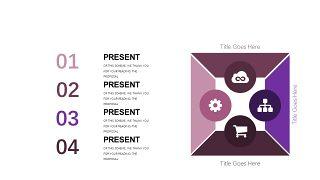深紫色系商务PPT图表-26