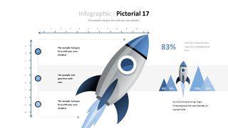 蓝色对比关系PPT图表-17