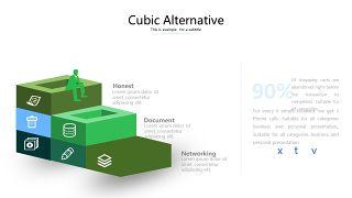 绿色立体创意PPT图表6