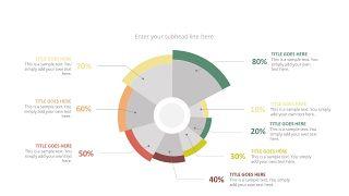 经典彩色饼状图PPT图表-6