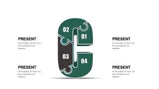 墨绿色创意设计PPT图表-10