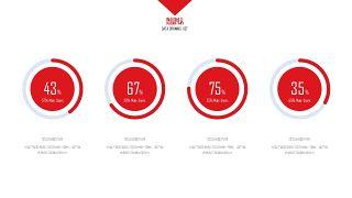 大气红色商务PPT图表-19
