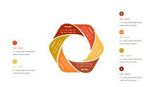红橙色箭头雷达图PPT图表-22