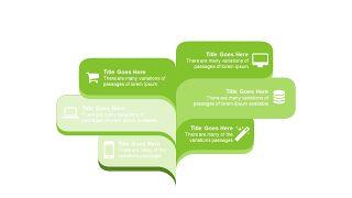 小清新绿色商务PPT图表-14